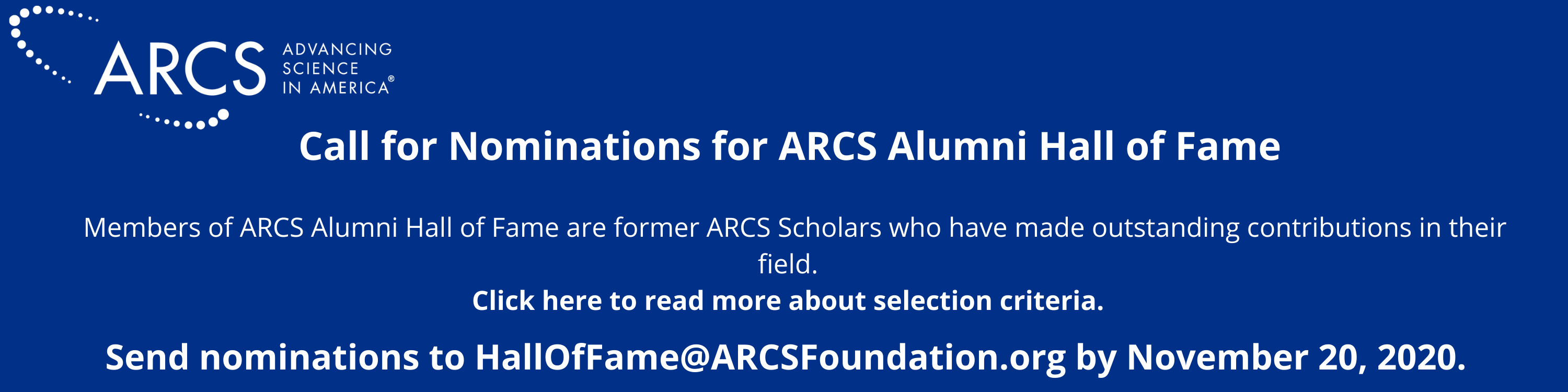 ARCS Foundation Hall of Fame