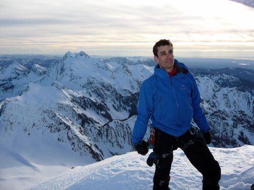 ARCS Scholar Jesse Salk Hiking in the icy Canadian Mountains
